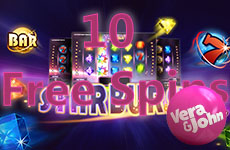 10 Free Spins on Starburst at Vera&John