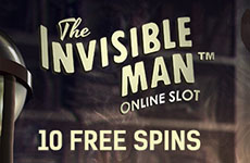 10 Free Spins on The Invisible Man at Casino Red