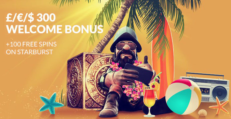 100% Welcome Bonus up to £300 + 100 Free Spins at Guts Casino