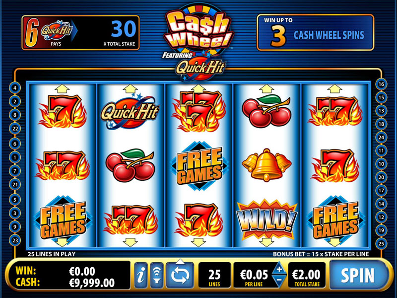 Quick Hit Cash Wheel Slots – Play for Free or Real Online