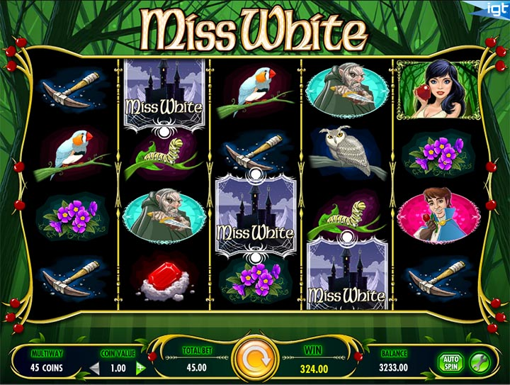 Miss White Slot by IGT Screenshot