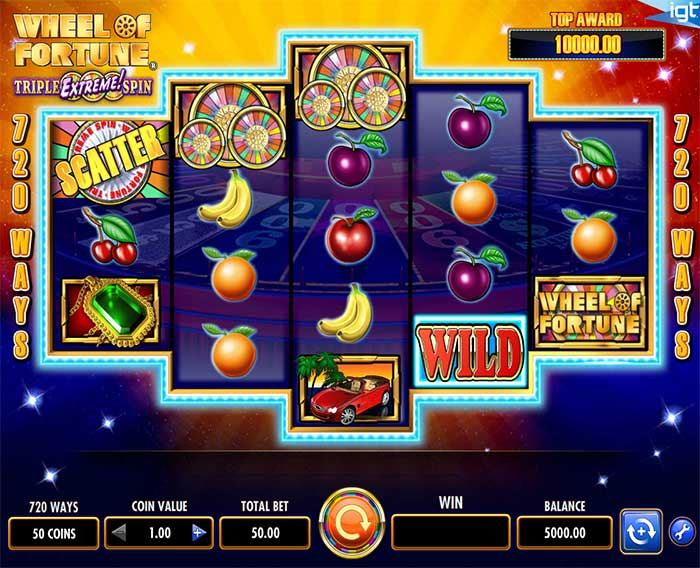 Wheel of Fortune Triple Extreme Spin Slot by IGT Screenshot