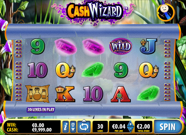 Cash Wizard Slot by Bally Screenshot