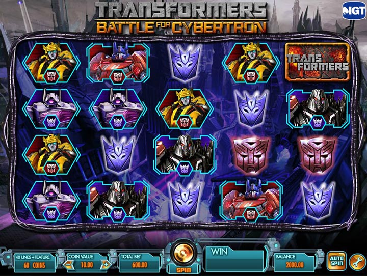 Transformers Slots Online and Real Money Casino Play