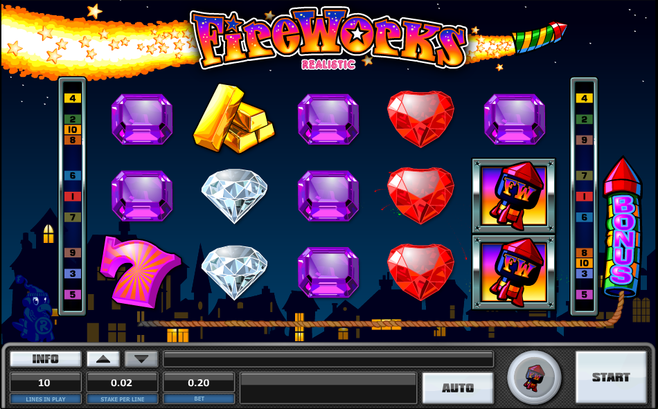 Fireworks Slot by Realistic Games Screenshot
