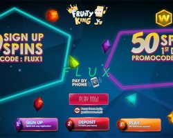 100 Free Spins on Flux Slot at Fruity King
