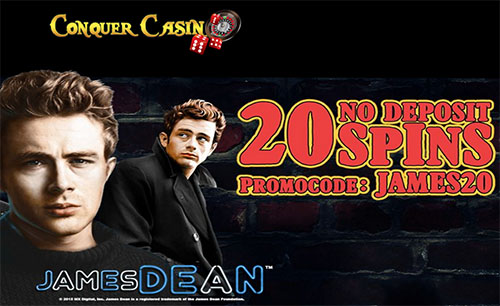 40 Free Spins on James Dean Slot at Conquer Casino