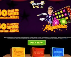 100 Free Spins on Magicious Slot at Fruity King
