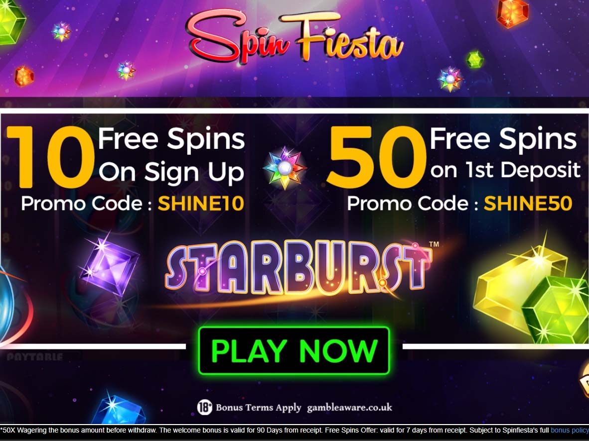 50 free spins at spin fiesta